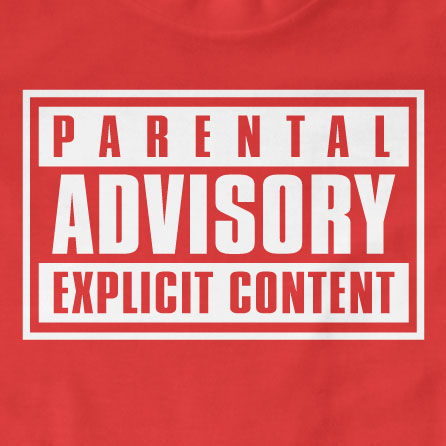 Parental Advisory Explicit Content T Shirt Vertex Graphics